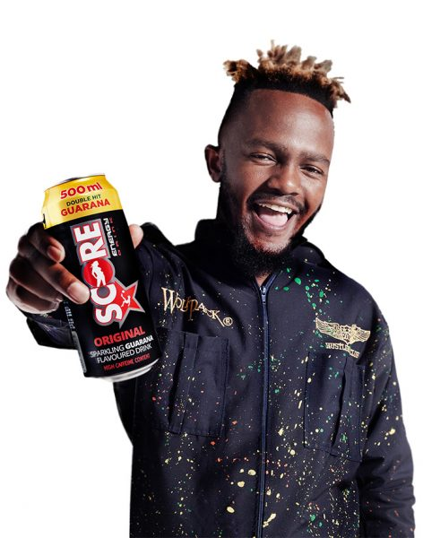 Score Energy Drink ambassador, Kwesta