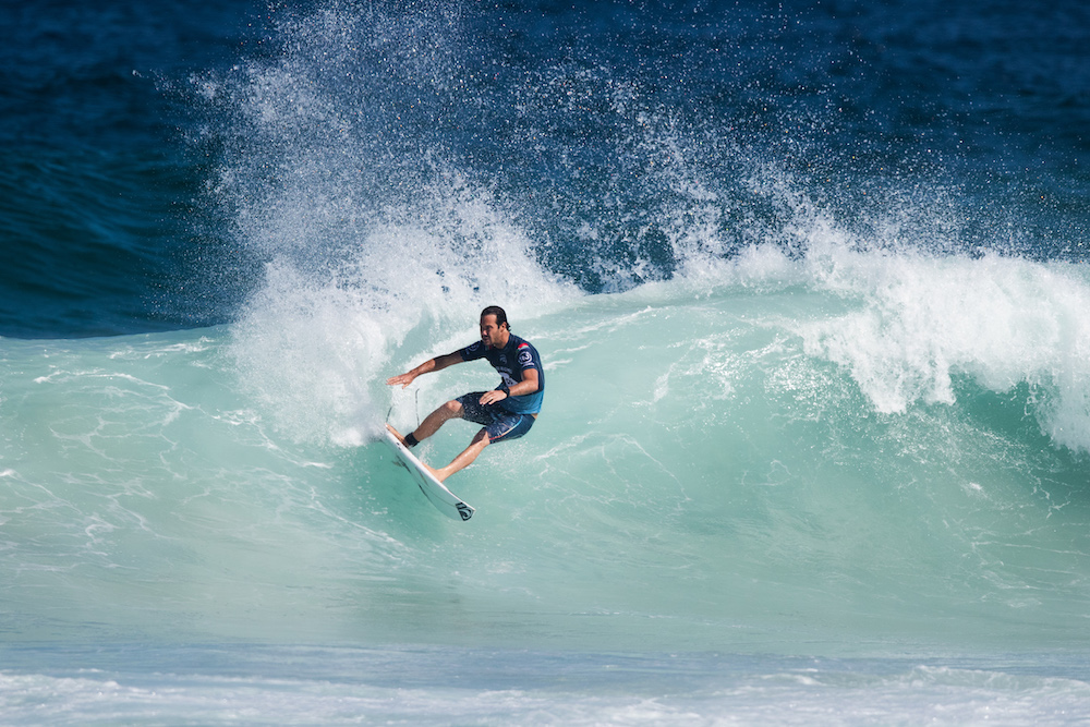 Corona JBay Open top seed Jordy Smith in action in Rio Photo: © WSL